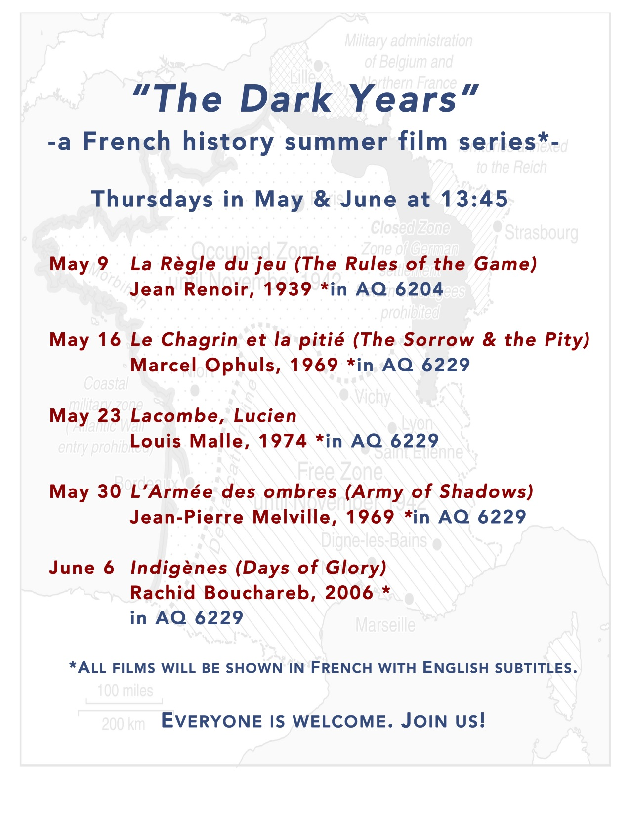 Film flyer-The Dark Years